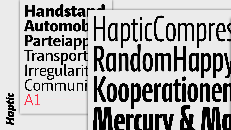 character type foundry – Haptic
